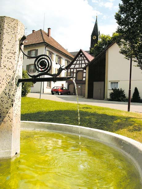 Blick auf einen Brunnen in Eßlingen