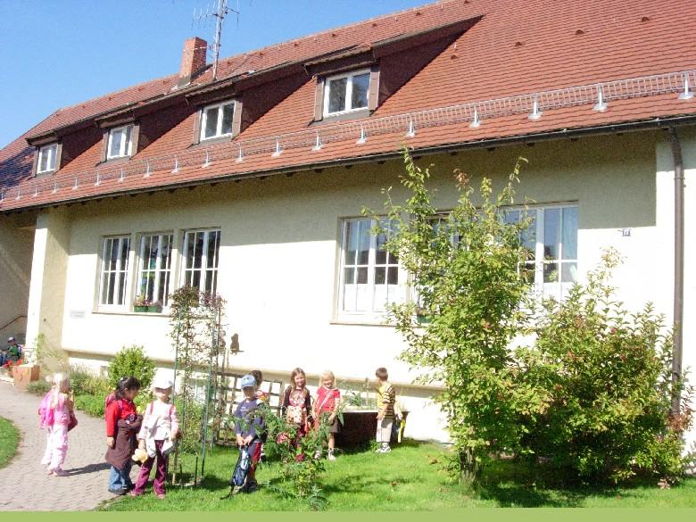 Der evangelische Kindergarten Martinskirche von außen