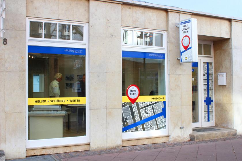 Fussgängerzone Info-Büro
