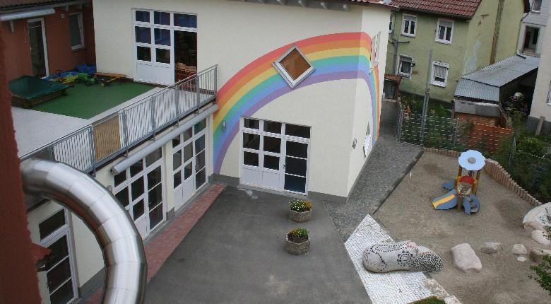Außenansicht Kindertagesstätte Haus der Familie