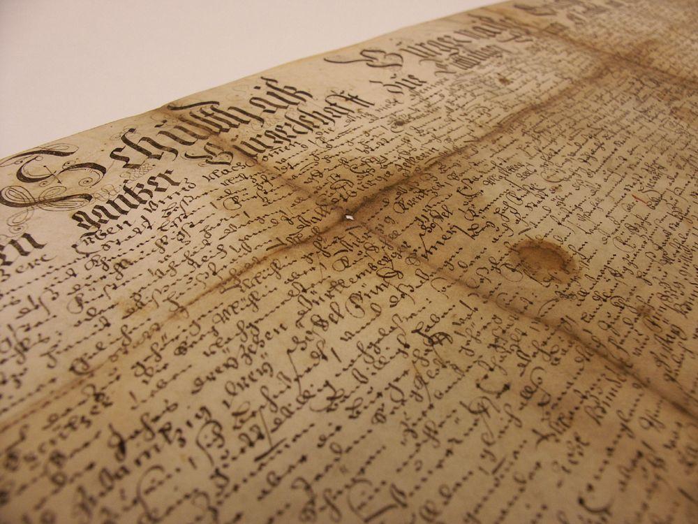 Archiv Urkunde
