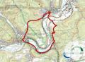 Karte zur Rundwanderung Donauversickerung