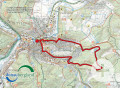 Karte zur Honberg-Wanderung in Tuttlingen