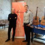 Massimo Serra und Jan Schmidt von der Musikschule