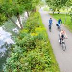 Radfahrer auf dem Donauradweg