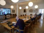 Bild einer Sitzung per Videokonferenz