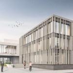 Entwurf des Neubaus des Amtsgerichts aus Vollholz