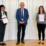 Maria-Tiziana Ferrante, Erster Bürgermeister Emil Buschle und Sophia Liebermann