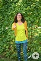 Birgit Leibold -  lachend, laufend im Denkpfad