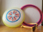 Foto Frisbee-Scheiben und Sonnenbrille