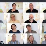Bild mit den Köpfen aller am Video beteiligter Künstler