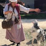 Die Grengängerin mit ihrem Hund