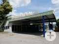 Eingangsbereich Stadionhalle und Donaustadion