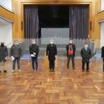 OB Michael Beck mit Vertretern der Moscheegemeinden in der alten Festhalle