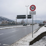 Bild von dem Abschnitt der B14, der nun auf 50 km/h begrenzt wurde