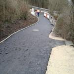 Bild vom neuen Radwegteilstück