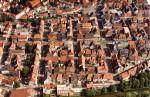 """Luftbild aus der Ausstellung """"Tuttlingen von oben"""", das Tuttlingen um 1976 zeigt"""
