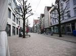 Blick in die leere Fußgängerzone