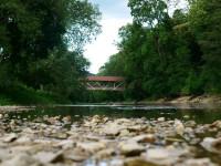 Die Donau mit Brücke