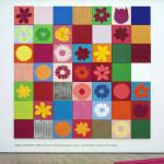 rosalie, creation_2009, 49teilig, Acryl und Acrylgranulat auf Leinwand, ca. 60 x 60 cm