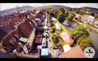 Weimarstraße von oben mit Stadtfest
