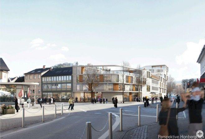 Das künftige Union-Areal von der Oberen Hauptstraße aus gesehen