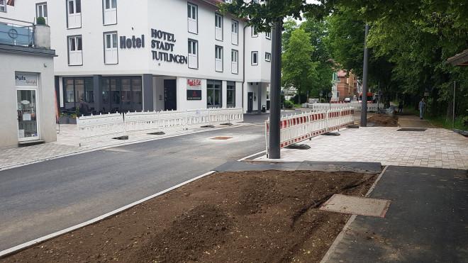 Straße vor dem Rathaussteg