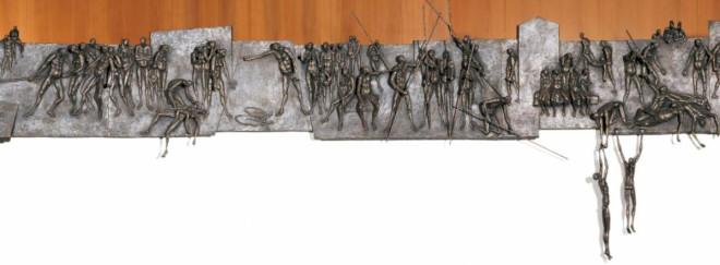 Wandrelief von Roland Martin im Ratssaal