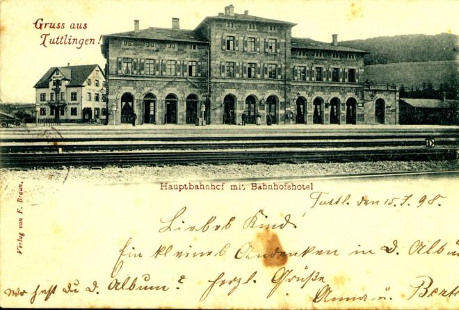 Ansicht Bahnhof Tuttlingen vor 150 Jahren