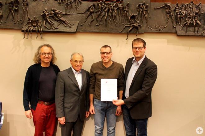 Bild mit Alfons Schwab, Ortwin Guhl, Andreas Brand und Rainer Nassal