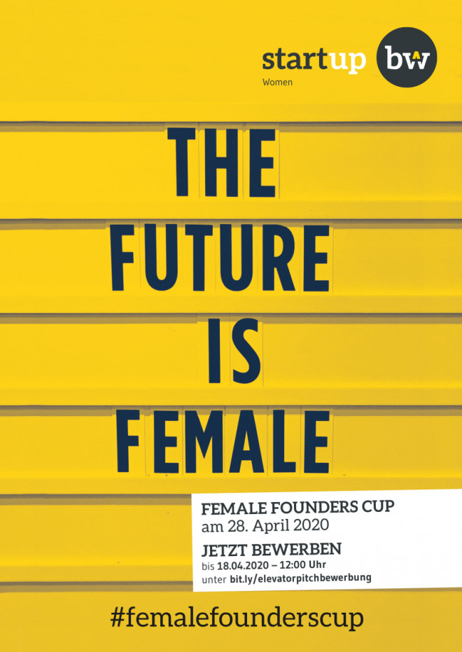 Female Founders Cup Plakat