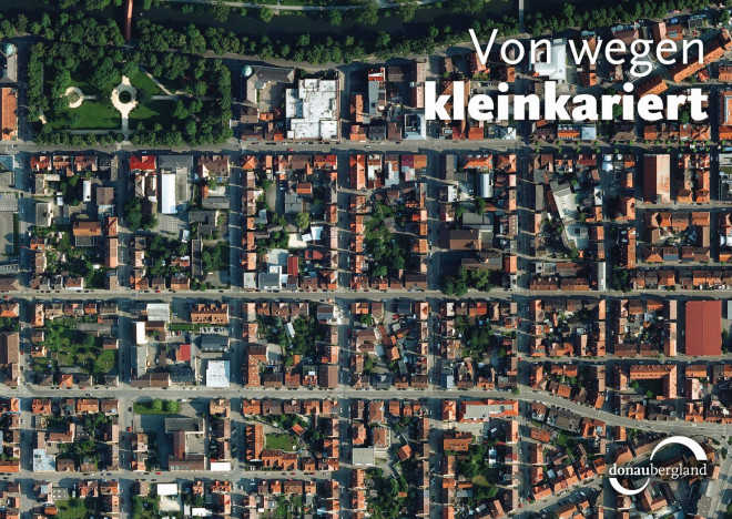 Donaubergland Postkarte kleinkariert