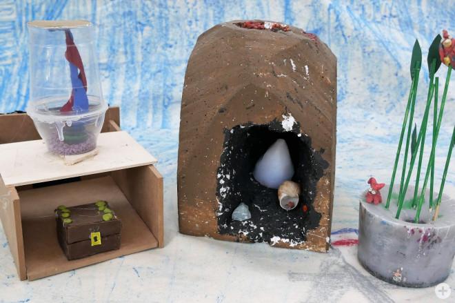 Bild aus dem Online-Kreativprogramm der Woche 4 – gebastelte Gegenstände