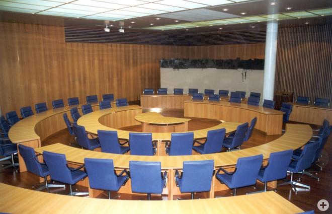 Ratssaal im Tuttlinger Rathaus