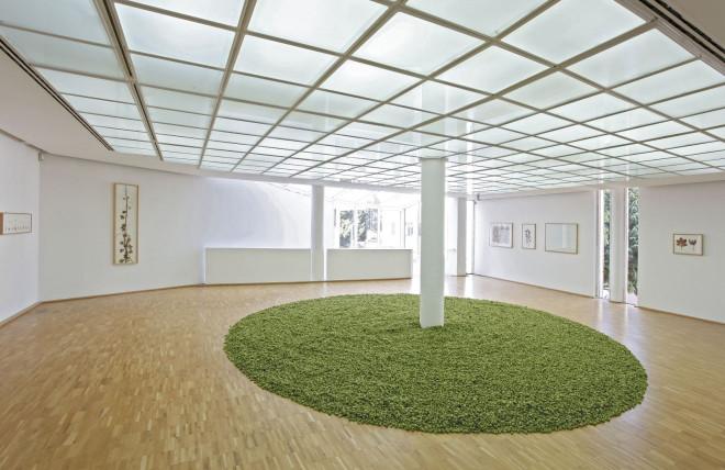 Raumansicht Ausstellung hermann de vries, 2016
