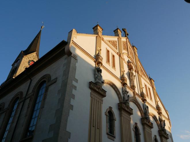 Die Tuttlinger Stadtkirche von vorne