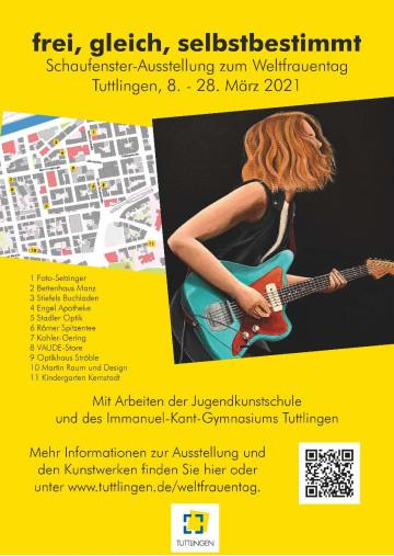 Plakat zur Schaufensterausstellung zum Weltfrauentag