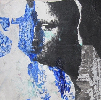Werk der Künsterlin Dietlinde Stengelin, Die Malerin, 1999, Acrylfarben, Kopie, Papier, 20 x 26 cm