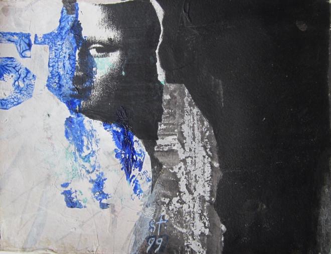 Dietlinde Stengelin, Die Malerin, 1999, Acrylfarben, Kopie, Papier. Foto: Archiv der Künstlerin