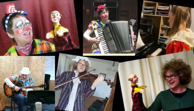 neues Browserfenster: Video von Clown Jonny auf der Website von YouTube