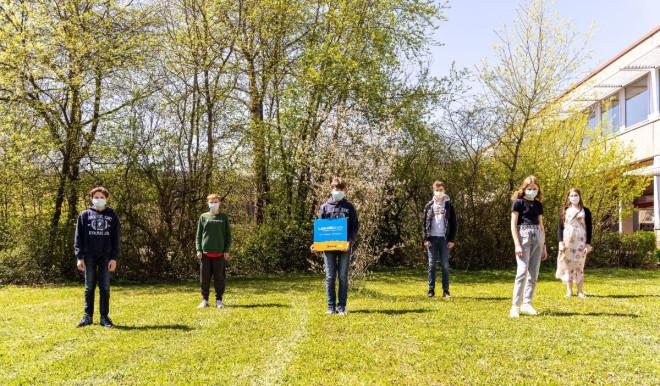 IKG Jugend forscht - Jonah Peinemann, Sebastian Altermann und Johannes Postatny Patrick Doll, Katharina Leuthner und Sarah Kliche
