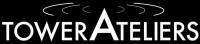 Logo Friends of Tower Ateliers – weißer Schriftzug auf schwarzem Hintergrund