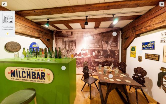 Blick in die Ausstellung zu Gaststätten im Fruchtkasten