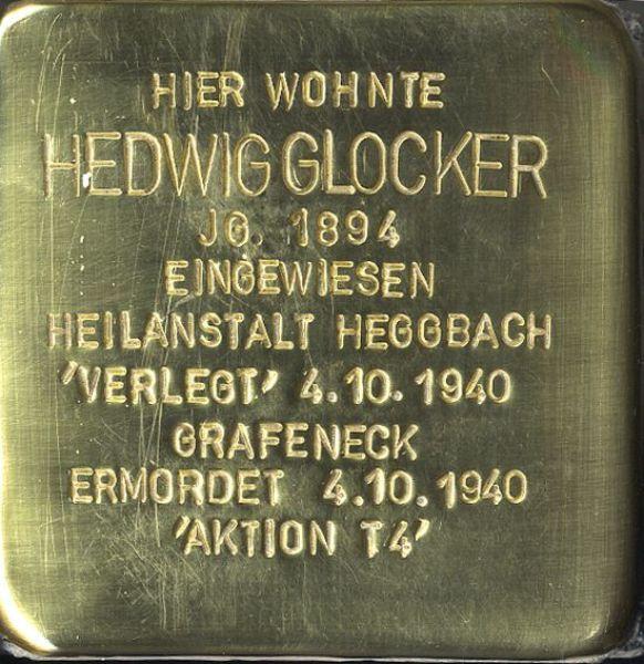 Stolperstein Hedwig Glocker