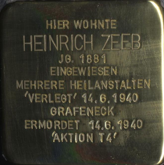 Stolperstein Zeeb