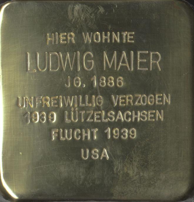 Stolperstein Ludwig Maier