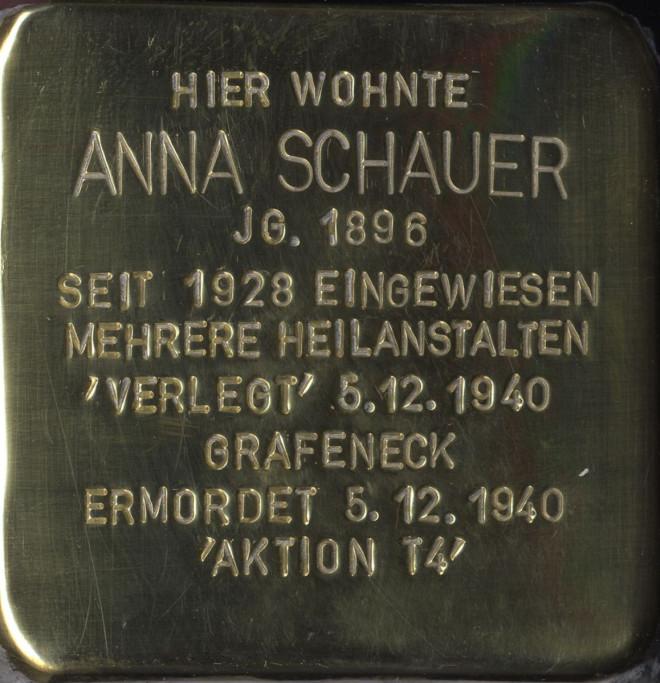 Stolperstein Anna Schauer