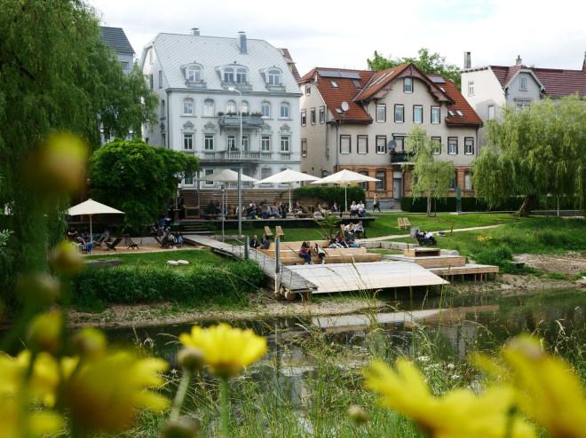 Strandbad Golem in Tuttlingen direkt an der Donau gelegen.