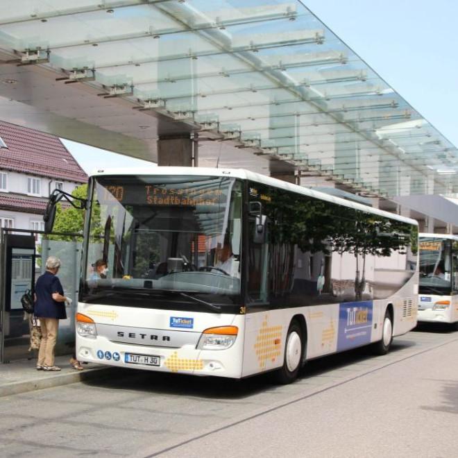 Bus am ZOB in Tuttlingen