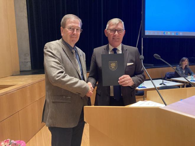 OB Michael Beck und Prof. Dr. Thomas Kattler